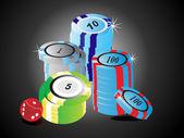 Casino chips vector illustration — Stock Vector