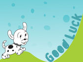 Cheerful puppy vector, illustration — Stock Vector