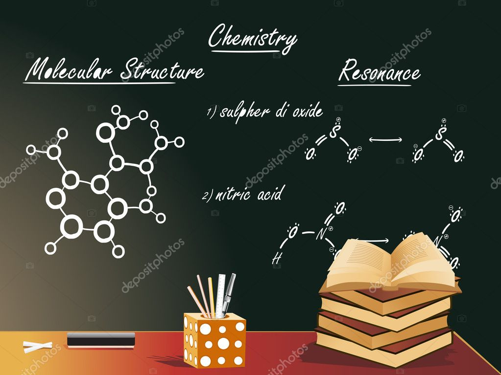 Chemistry class vector illustration  Stock Vector #2442370