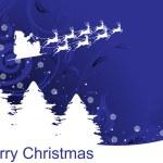 Background with reindeer, tree — Stock Vector