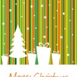 Merry christmas background — Stock Vector