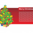 Royalty-Free Stock Imagem Vetorial: Beautiful pattern xmas day card