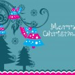 Merry xmas day background with tree — Stock Vector