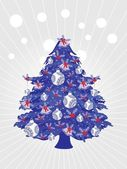 Background with xmas tree — Stock Vector
