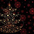Snowflake background with xmas tree — Stockvektor  #2464167