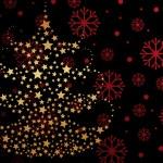 sfondo di fiocco di neve con albero di Natale — Vettoriale Stock