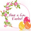Have a fun easter card with three egg - Stock Vector