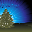Christmas light appearing on tree — Stock Vector