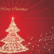Christmas stars background with tree — Stock vektor