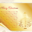 Christmas tree with golden papper - Stock Vector