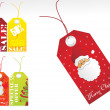 Christmas vector sale tag series — Stock Vector