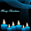 Christmas vector with candles and waves - Grafika wektorowa