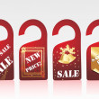Stock Vector: Christmas vector sale tag series