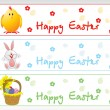 Set of Easter day banners — Stockvectorbeeld