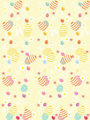 Easter background with cute artwork — Stock Vector