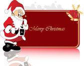Christmas frame of santa claus — Stock Vector