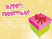 Isolated gift box background — Stock Vector