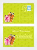 Vector merry xmas day postcard — Stock Vector