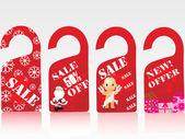 Jul vektor försäljning tag serien, set4 — Stockvektor