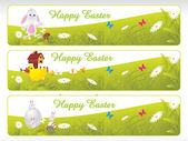Easter day banner — Stock Vector