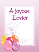 Easter day gretting card illustration — Stock Vector
