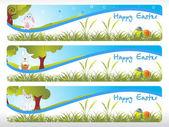Ilustración de la bandera de Pascua — Vector de stock
