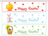 Set of Easter day banners — Stock Vector
