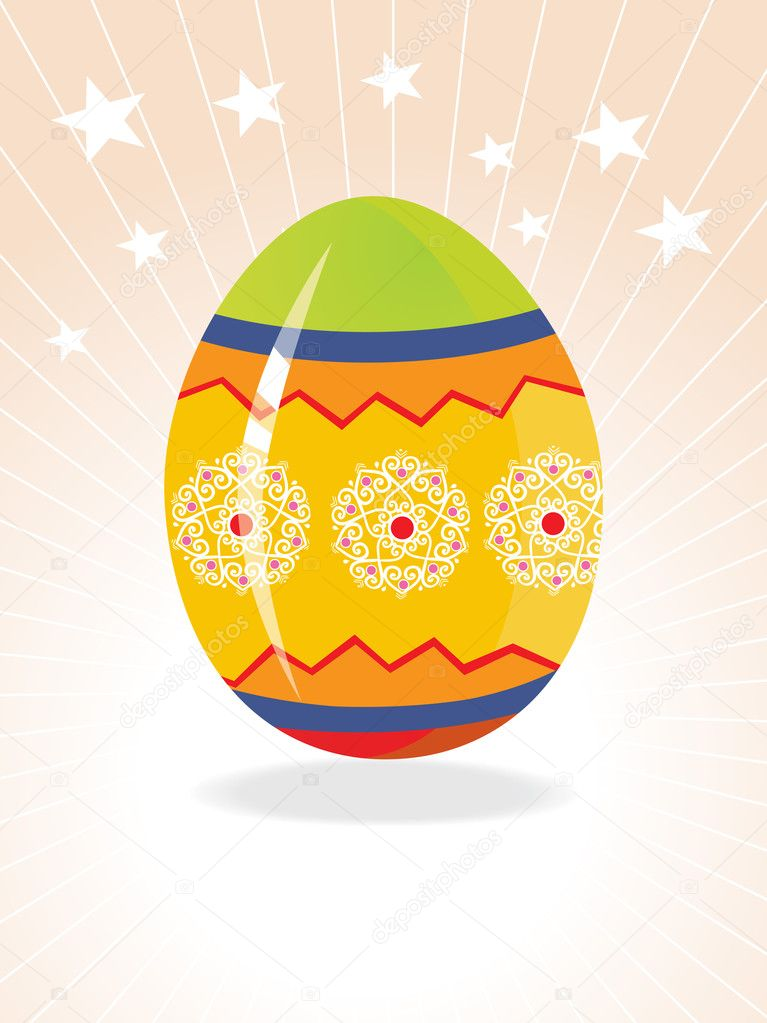 Easter egg background with creative design — Stock Vector #2464207