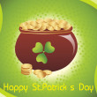Magical earthenware for st. patrics day - Stock Vector