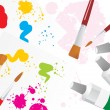 Color palette background with brush - 