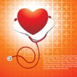 Royalty-Free Stock Vector Image: Isolated stethoscope with red heart