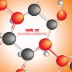 Medical moleculas background — Stock Vector