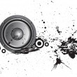 Loudspeaker grunge background — Stock Vector