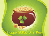 Magical earthenware for st. patrics day — Stock Vector