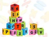 Colorful children's blocks — Vector de stock