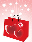 Colorful shopping bags, — Stock Vector
