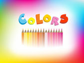 Colorful illustration of crayons — Stock Vector