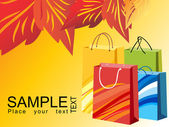 Colorful shopping bags, vector design19 — Stock Vector