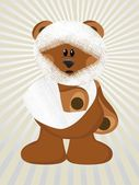 Injured bear with background — Stock Vector