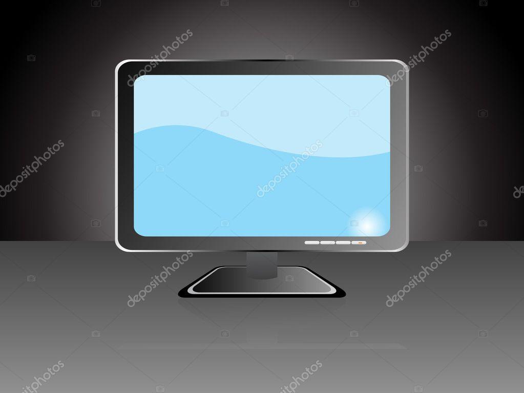 ordinateur moniteur cran plat lcd image vectorielle alliesinteract 2488020. Black Bedroom Furniture Sets. Home Design Ideas