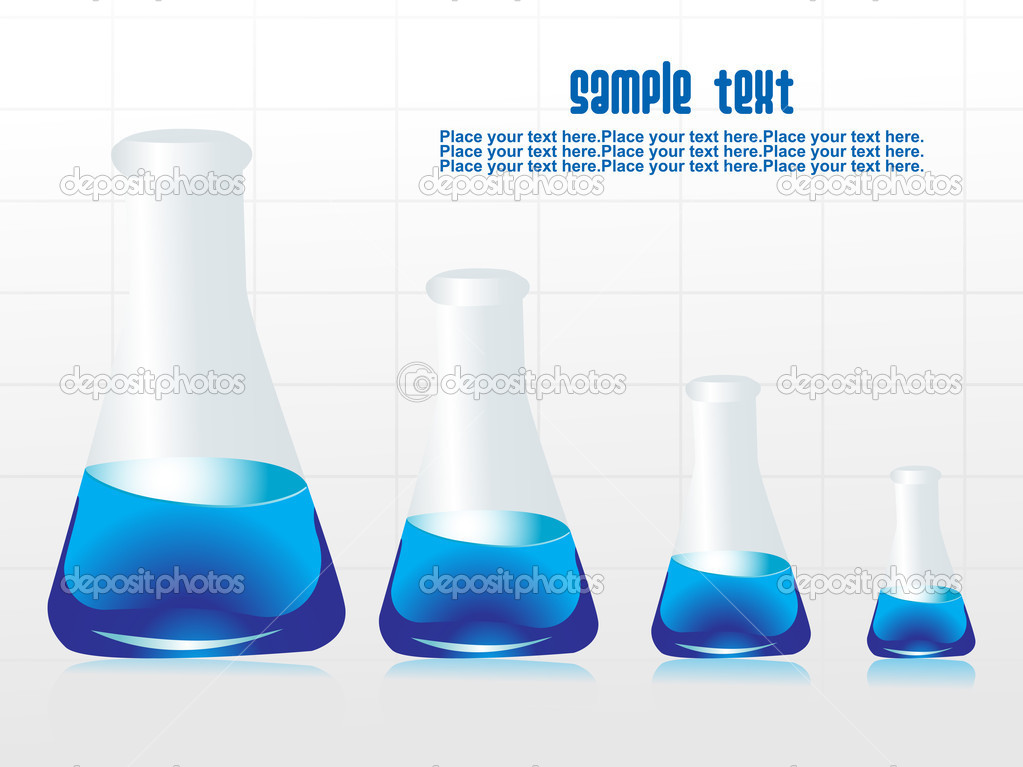 Background with chemical laboratory vector illustration — Stock vektor #2488083