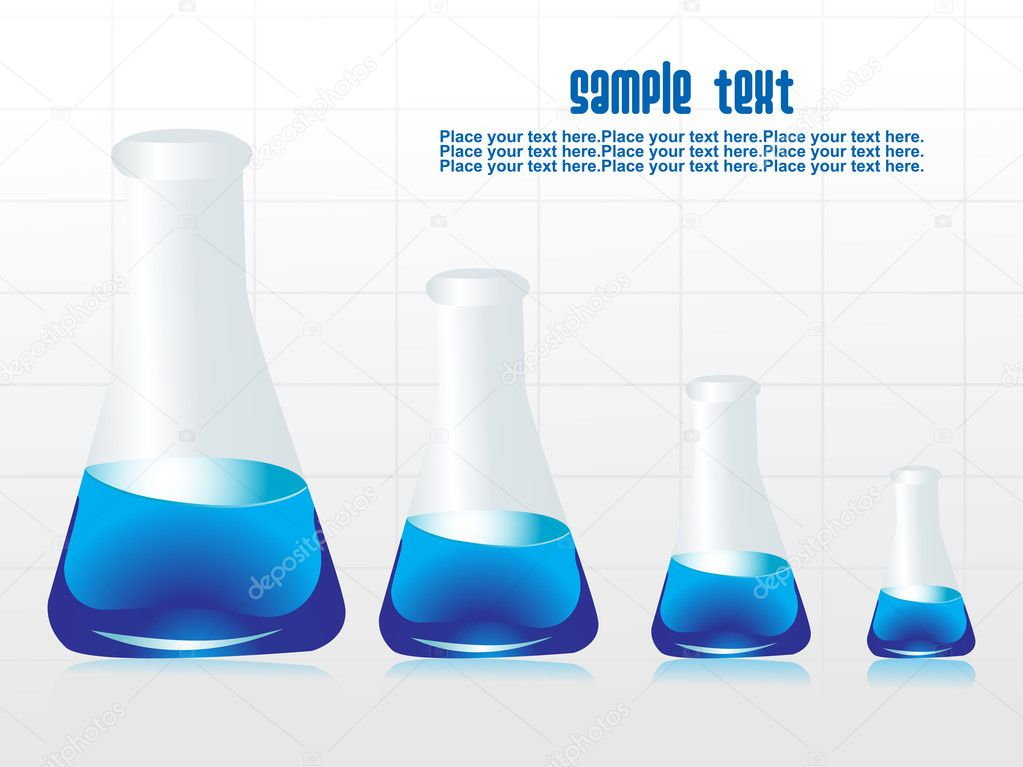 Background with chemical laboratory vector illustration — Imagens vectoriais em stock #2488083