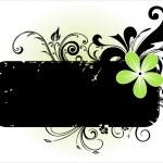 Black floral pattern banner — Stock Vector #2500921