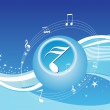 Royalty-Free Stock Vector Image: Music background in blue