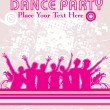 Stock Vector: Grungy dance party background
