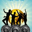 Vector de stock : Dance party background