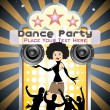 Vector dance party background — Stock Vector