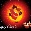 Royalty-Free Stock Imagem Vetorial: Background for diwali celebration