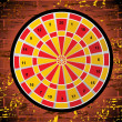 Dartboard on white background — Stock Vector #2504282