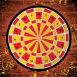 Dartboard on white background - Stock Vector